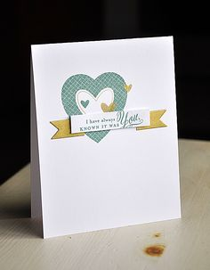 It Was You Card by Maile Belles for Papertrey Ink (December 2012)