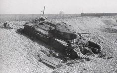 A Canadian Churchill tank - This one was unable to break through the heavily fortified German controlled beaches #worldwar2 #tanks