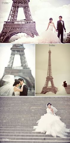 Paris wedding {Have a wall mural for a backdrop}
