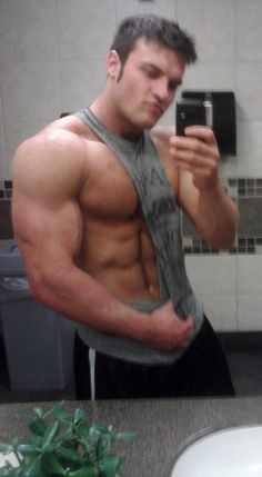 Sexy muscle guys tank top, hot guy