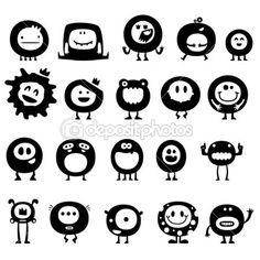 Funny monsters — Stock Illustration © Sergey Konyakin #7154088