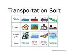Transportation Preschool Unit
