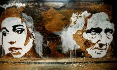 Creative way to make the ugly beautiful...walls - Alexandre Farto aka Vhils