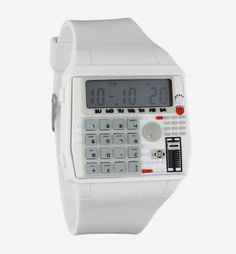 The BPM White / $80 / Flud Watches (Don't ask me why, but I have ALWAYS wanted a calculator watch. #nerdproblems)