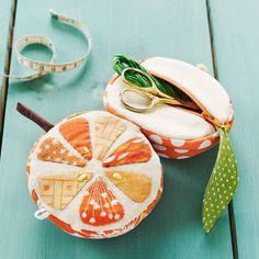 sewing kits, orang, pincushion, sew kit, stitch, diy gifts, coin purses, appl, sewing patterns