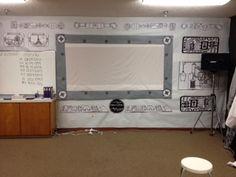 Make the room whiteboard into a computer monitor spi academi