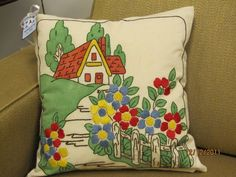 Cottage house pillow