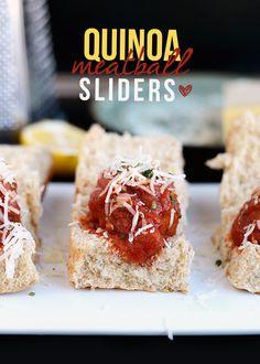 Quinoa Meatball Sliders | 29 Exciting Ways To Eat Meatballs