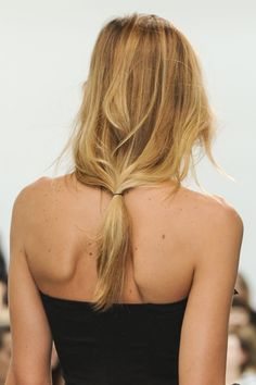 Low Ponytail Hair Style Trend for Spring Summer 2013.  Anne Valerie Hash Spring Summer 2013. #hair  #trends