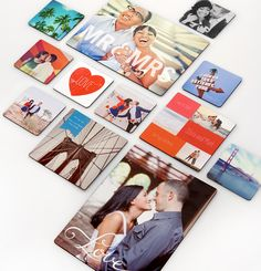 Send wedding guests home with a favor they'll love. Create personalized magnets with your photos or favorite designs to brighten up your friends' and family's homes. Click through for more wedding favor ideas.