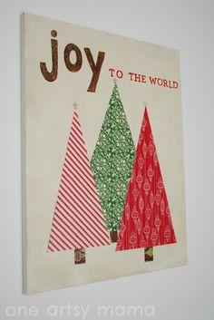 holiday, diy joy, joy canva, christma, canvases