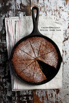 Cherry and Whiskey Upside Cake