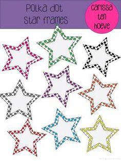 Polka Dot Star Frames--FREE!