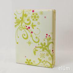 Holiday Garland gift wrap (Green) - Elum