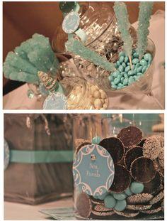 Tiffany Blue Wedding Candy Buffet