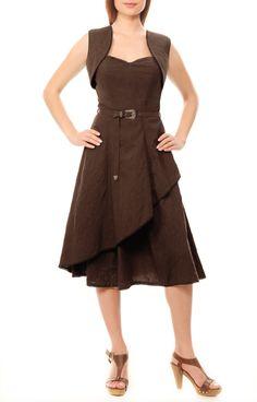 Cotton Corset Dress with Waist Coat