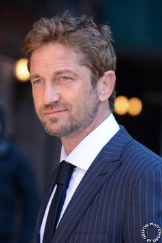 Gerard Butler: outside the Ed Sullivan Theater - prior to his appearance on Letterman in NYC - March 14, 2013