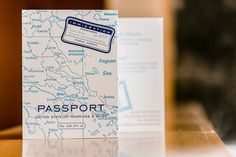Travel Theme Wedding Invitation - passport idea