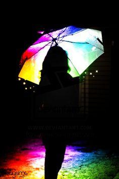 umbrella in color