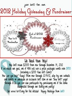 Help #1in10 raise funds for #PCOS awareness with our 2012 Holiday Fundraiser!  visit www.1-in-10.org for details!