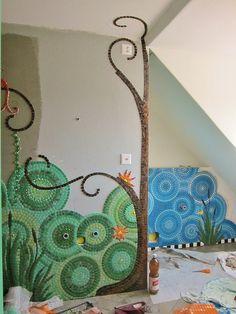 Mosiac Bathroom WIP by Waschbear - Frances Green, via Flickr romans, bathroom wip, em mosaico, mosaics, mosiac bathroom, bathrooms, children, france, franc green