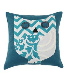 Take a look at this Teal & White Sensations Owl Pillow by Chooty & Co. on #zulily today!