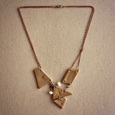 Gold geometry necklace
