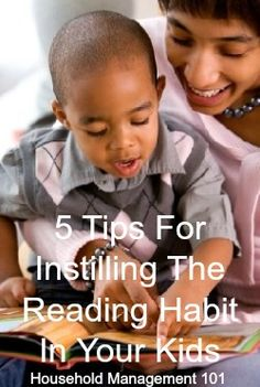 5 simple tips you can begin using today to help your children learn to love reading, for life.