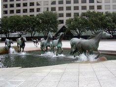 mustang, creativ statu, texa, public sculpture, place, creativ sculptur, wild horses