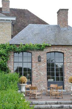 orangerie with steel windows