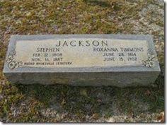 Carolina Family Roots: Tombstone Tuesday~Stephen Jackson-Roxanna Timmons #genealogy #familyhistory