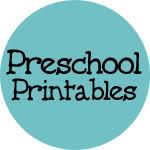 All kinds of preschool printables on a craft stick
