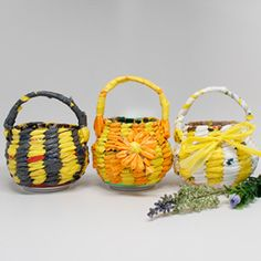 Recycled Soda Can Baskets