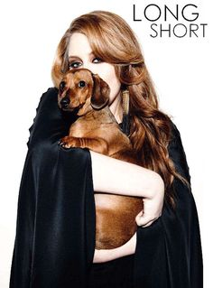Adele with a wiener dog. Now I just love her even more!