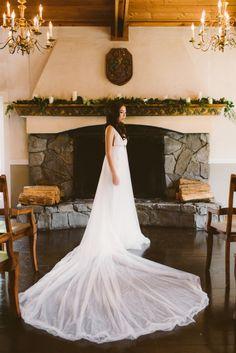 Gushing over this Olga De La Couture wedding dress: http://www.stylemepretty.com/washington-weddings/2014/10/29/rustic-villa-wedding-inspiration/ | Photography: Melissa Leith - http://melissaleith.com/