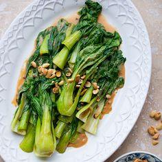 Stir Fried Bok Choy with Peanut Sauce