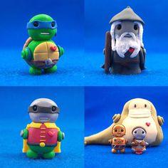 Leonardo, Gandolf, Robin, Jabba the Hutt, C3PO, and Princess Leia..... O_O  I'm making these!