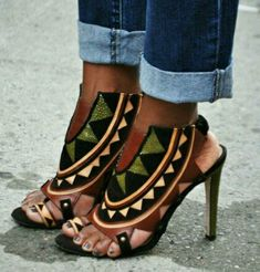 african fashion, shoes, african inspir, cloth, style, african prints, sandals, heels, tribal prints
