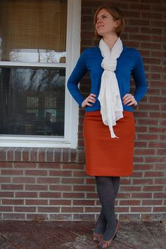 that orange skirt is amazing.