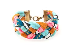 fashion, fabric bracelet, style, bracelets, diy gift, mint, craft idea, braid fabric, jewelri