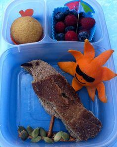 #bento - bird/florida theme - Love the idea for the orange sun!