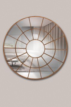 Round Window Metal Mirror