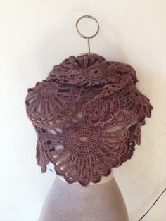 Walking Flowers Triangle Shawl