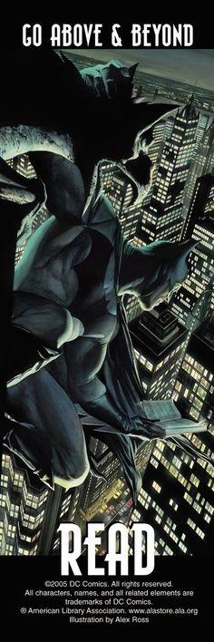 The Batman reads.
