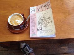Cafe and The Paris Review at Habit Coffee. #ReadEverywhere