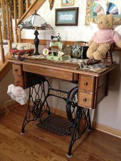 cooler, antiqu sew, antique sewing machines, drawer