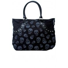 SOURPUSS SKULL STUD TOTE BAG