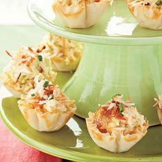 Curried Shrimp Tarts | MyRecipes.com