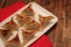 Hamantaschen beef wontons -- untraditional but delicious!