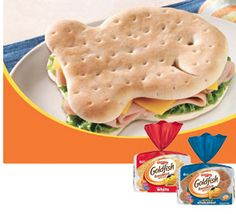 Kirstin, I believe it is time to graduate, moving up.  Goldfish sandwich bread.  Just kidding.  I know you would never give up the standard bite size...but these could also be delicious.